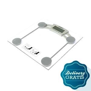 Imagen de Balanza digital Sate para baño + un mes de diario de día domingo